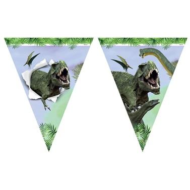 Vahşi Dinozor Üçgen Flama