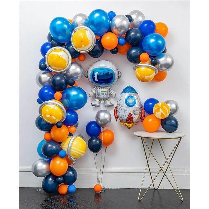 Uzay Temalı Balon Buket Aranjman