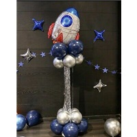 Uzay Konseptli Balon Sütunu