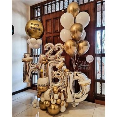 Happy Birthday Yaş Konseptli Balon Buket Aranjman