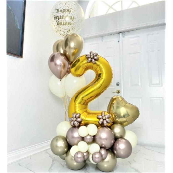 Kişiselleştirilebilir Yaş Temalı Balon Buket Aranjman