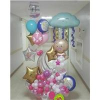 Yenidoğan Konsept Kişisellestirilmiş Balon Buket Aranjman