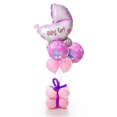 Baby Girl Konsept Balon Buket Aranjman