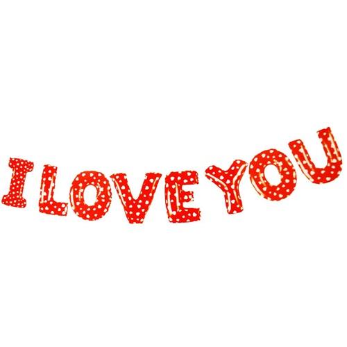 I Love You Yazılı Folyo Balon