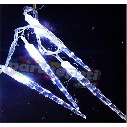Yılbaşı Beyaz Çubuklu Kristal Led Işık
