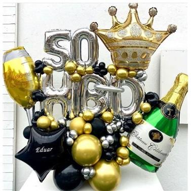 Yaş Temalı Happy Birthday Balon Buket Aranjman