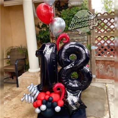 Yaş Temalı Balon Buket Aranjman