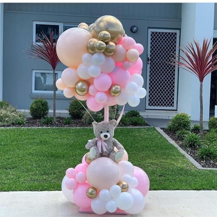 Ayıcıklı Sürpriz Balon Buket Aranjman
