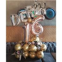 İsme Özel Yaş Temalı Balon Buket Aranjman