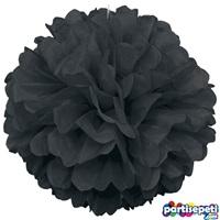 Ponpon Çiçek Süs Siyah