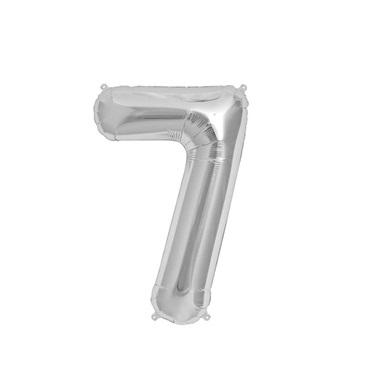 Gümüş 7 Rakam Folyo Balon
