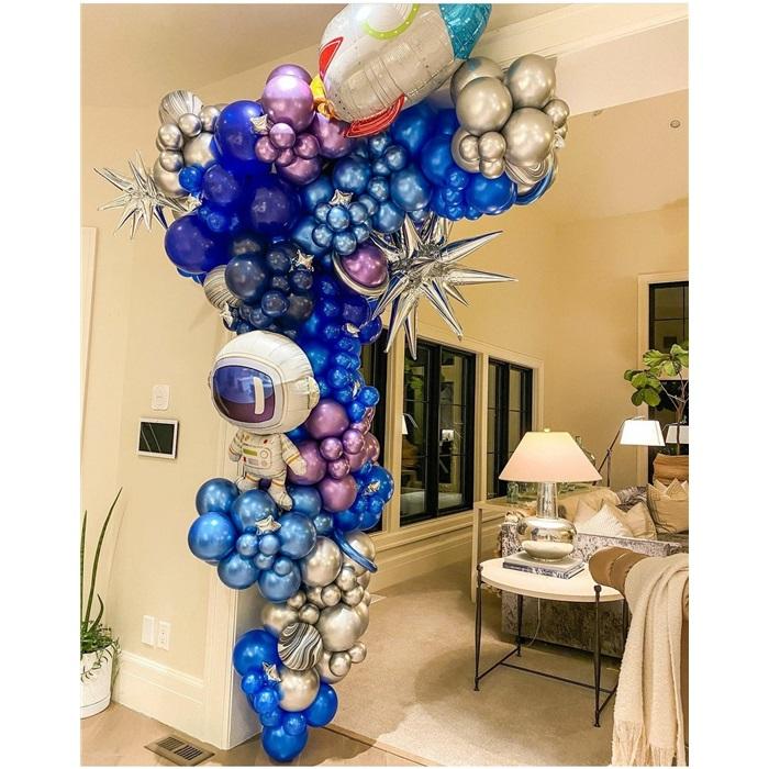 Uzay Temalı Zincir Balon Süsleme