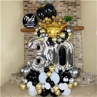 Yaş Konseptli Happy Birthday Balon Buket Aranjman