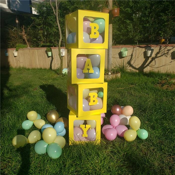 Baby Yazılı Şeffaf Kutu Sarı