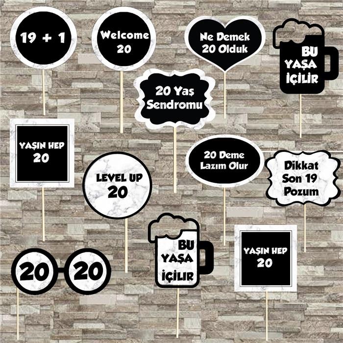 20 Yaş Temalı Konuşma Balonu