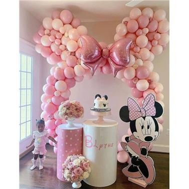 Minnie Mouse Temalı Balon Tag Süsleme