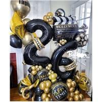 Yaş Temalı Hollywood Balon Buket Aranjmanı