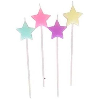 Yıldız Mum Makaron Renkler