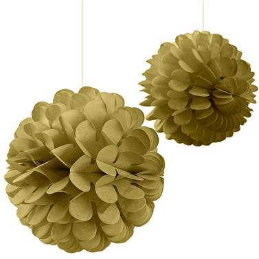 Gold Ponpon Süs 2'Li