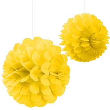 Sarı Ponpon Süs 2'Li