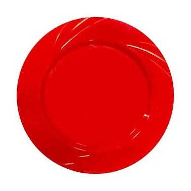 Kırmızı Yuvarlak Mika Tabak