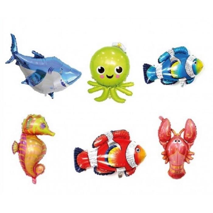 Okyanus Canlıları Folyo Balon 6Lı