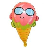 Gözlüklü Dondurma Folyo Balon