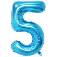 Açık Mavi 5 Rakam Folyo Balon