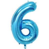 Açık Mavi 6 Rakam Folyo Balon