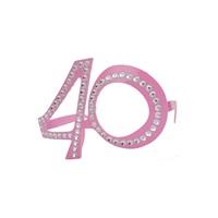 40 Yaş Temalı Pembe Gözlük