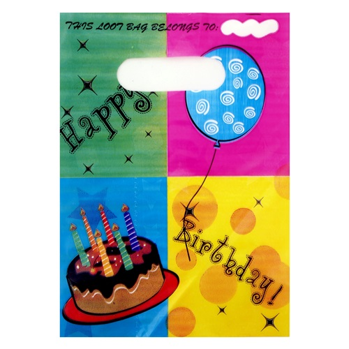 Pastalı Happy Birthday Parti Çantası