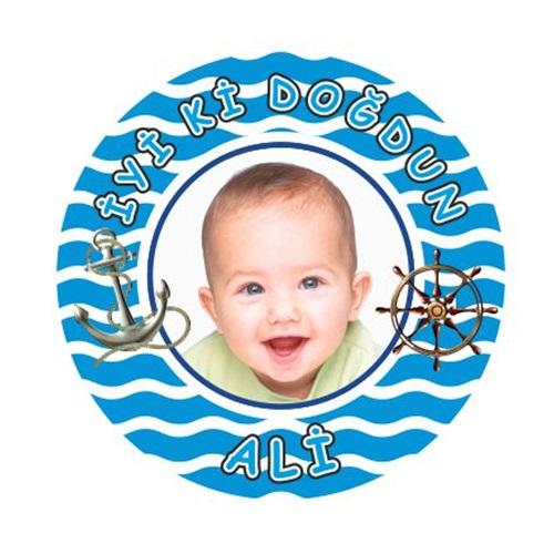 Denizci Kişiye Özel İsimli Sticker