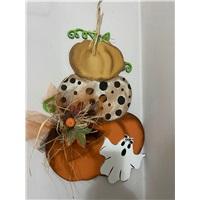 Halloween Balkabağı Figürlü Kapı Süsü