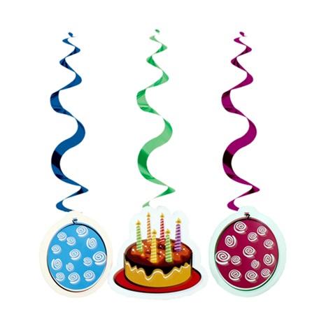 Pastalı Happy Birthday İp Süs