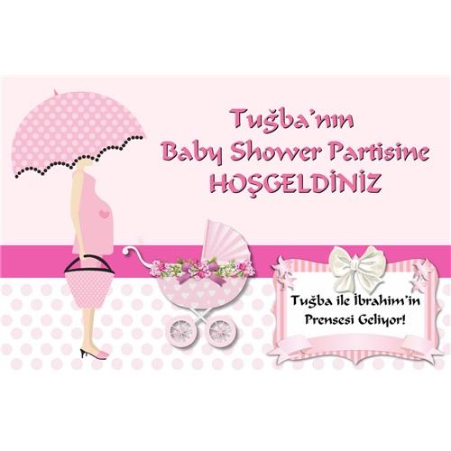 Baby Shower Kişiye Özel Afiş Kız