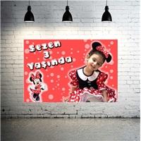 Minnie Mouse Temalı Fashion Kişiye Özel Afiş