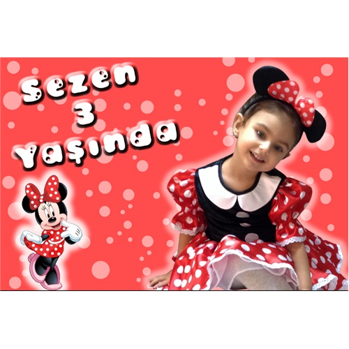 Minnie Mouse Temalı Fashion Kişiye Özel Magnet