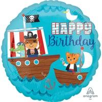 Happy Birthday Korsan Folyo Balon