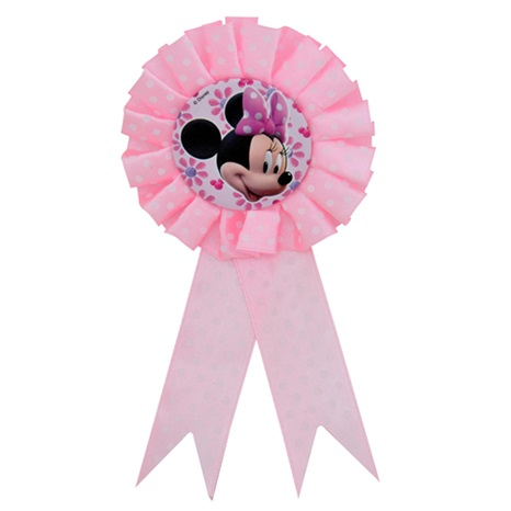 Minnie Mouse Temalı Kurdaleli Rozet