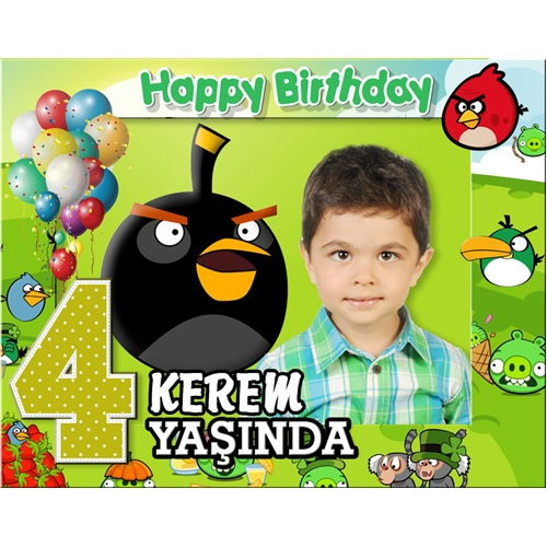 Angry Birds Kişiye Özel Magnet