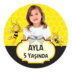 Arı Maya Kişiye Özel Yapışkanlı Sticker