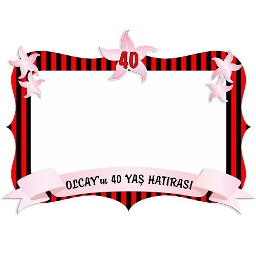 Kişiye Özel 40 Yaş Temalı Çerçevesi