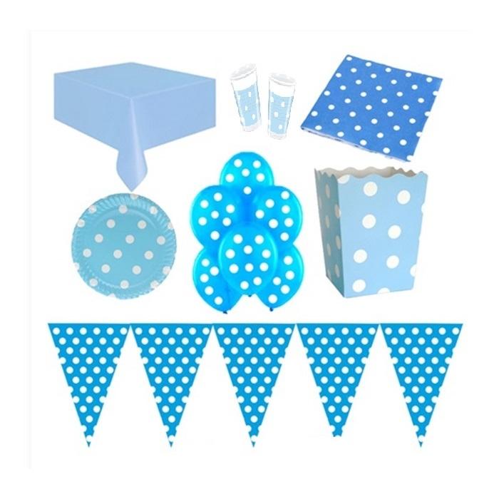Mavi Puanlı Doğum Günü Parti Seti