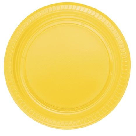 Sarı Plastik Tabak