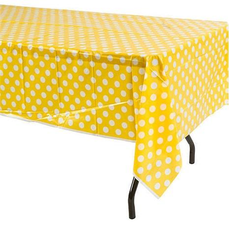 Sarı Puanlı Masa Örtüsü