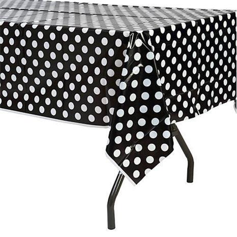 Siyah Puanlı Masa Örtüsü
