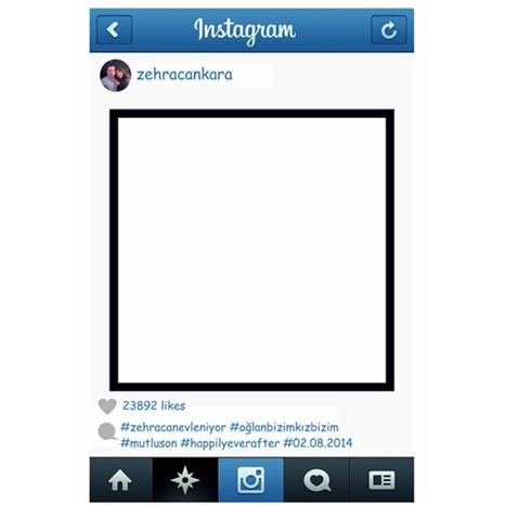 Instagram Kişiye Özel Hatıra Fotoğrafı Çerçevesi