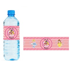 Prenses Temalı Su Şişesi Bandı