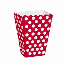 Kırmızı Puanlı Popcorn Kutusu 8 Ad