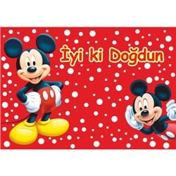 Mickey Mouse Temalı Kişiye Özel Amerikan Servis